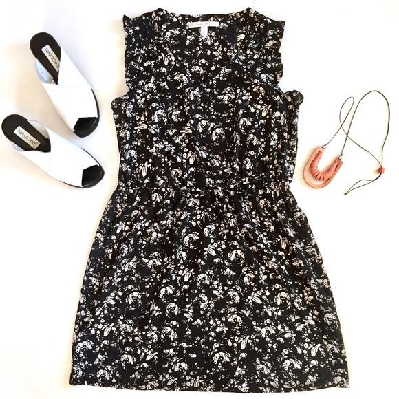 Lc Lauren Conrad Dresses Lauren Conrad Black White Bird Floral